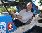 Peter Garrett in Solartaxi, frontman of Midnight OIl and today Environment Minister of Australia